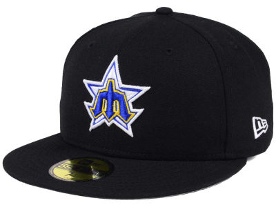 Seattle Mariners New Era MLB Black Cooperstown 59FIFTY Cap