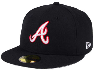 Atlanta Braves New Era MLB Black Cooperstown 59FIFTY Cap