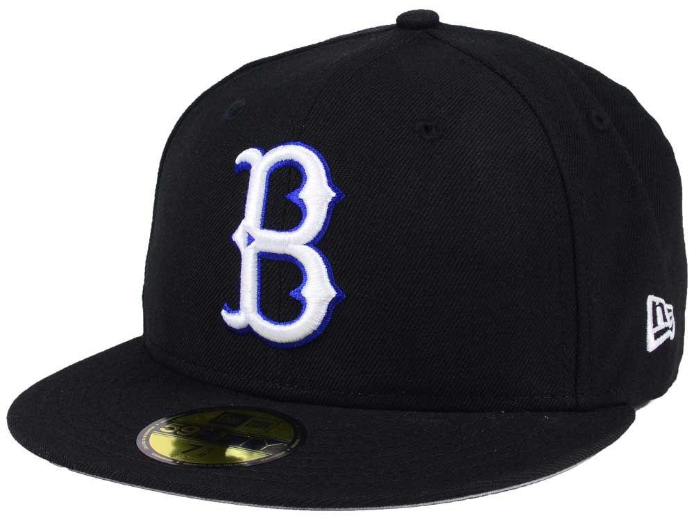 online store 2d80a be31a ... hot brooklyn dodgers new era mlb black cooperstown 59fifty cap ef6c5  e1bbb