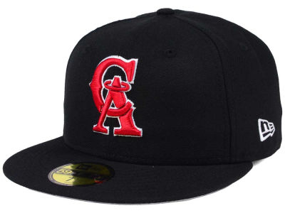 Los Angeles Angels New Era MLB Black Cooperstown 59FIFTY Cap