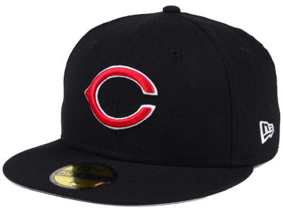 Cincinnati Reds New Era MLB Black Cooperstown 59FIFTY Cap