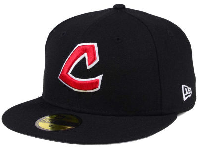 Cleveland Indians New Era MLB Black Cooperstown 59FIFTY Cap