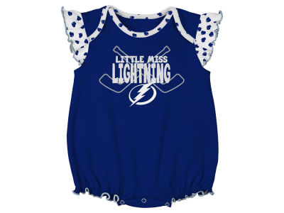 Tampa Bay Lightning Outerstuff NHL Newborn Girls Hockey Hearts Creeper Set