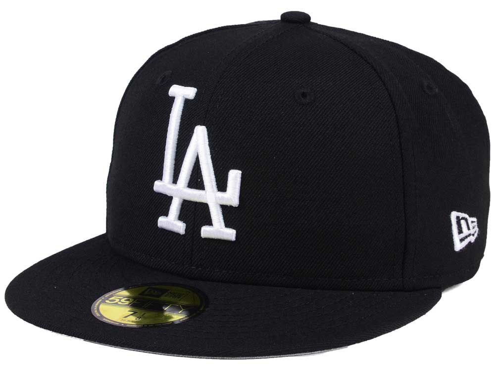 b5df73a6b4b Los Angeles Dodgers New Era MLB Black Cooperstown 59FIFTY Cap
