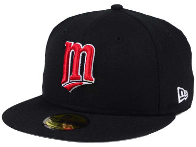 Minnesota Twins New Era MLB Black Cooperstown 59FIFTY Cap