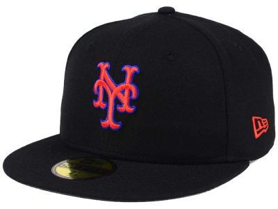 New York Mets New Era MLB Black Cooperstown 59FIFTY Cap