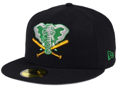 Oakland Athletics New Era MLB Black Cooperstown 59FIFTY Cap