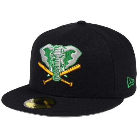 Oakland Athletics New Era MLB Black Cooperstown 59FIFTY Cap