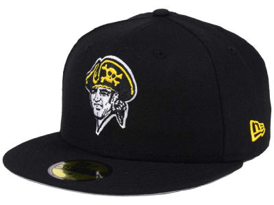 Pittsburgh Pirates New Era MLB Black Cooperstown 59FIFTY Cap