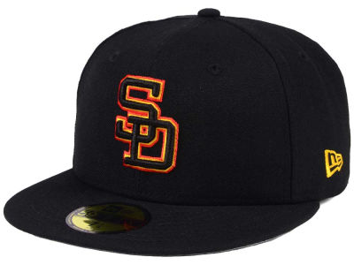 San Diego Padres New Era MLB Black Cooperstown 59FIFTY Cap