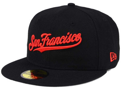San Francisco Giants New Era MLB Black Cooperstown 59FIFTY Cap