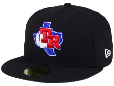 Texas Rangers New Era MLB Black Cooperstown 59FIFTY Cap