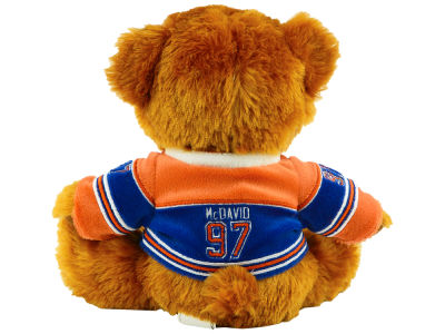 Edmonton Oilers Connor McDavid Player Jersey Bear - 7.5""