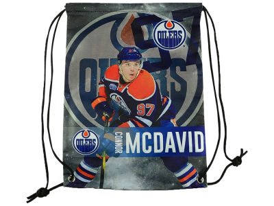 Edmonton Oilers Connor McDavid Player Drawstring Bag