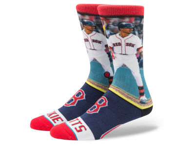 Boston Red Sox Mookie Betts Stance MLB Player Crew Socks