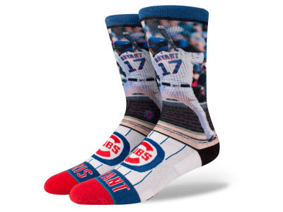 Chicago Cubs Kris Bryant Stance MLB Player Crew Socks