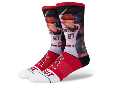 Los Angeles Angels Mike Trout Stance MLB Player Crew Socks