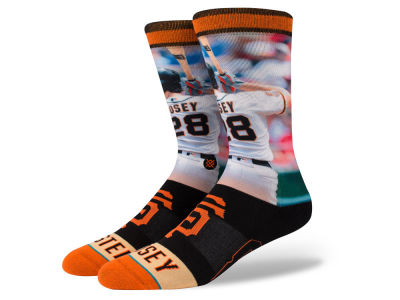 San Francisco Giants Buster Posey Stance MLB Player Crew Socks