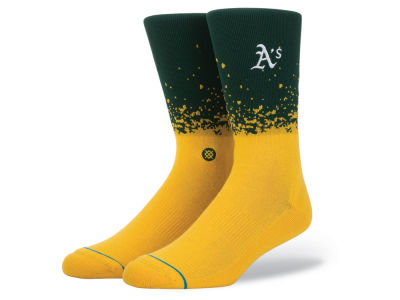 Oakland Athletics Stance MLB Fade Crew Socks