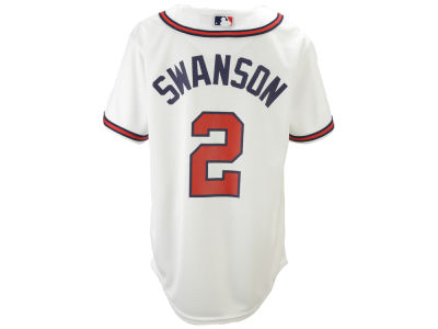 Atlanta Braves Dansby Swanson Majestic MLB Youth Player Replica Cool Base Jersey