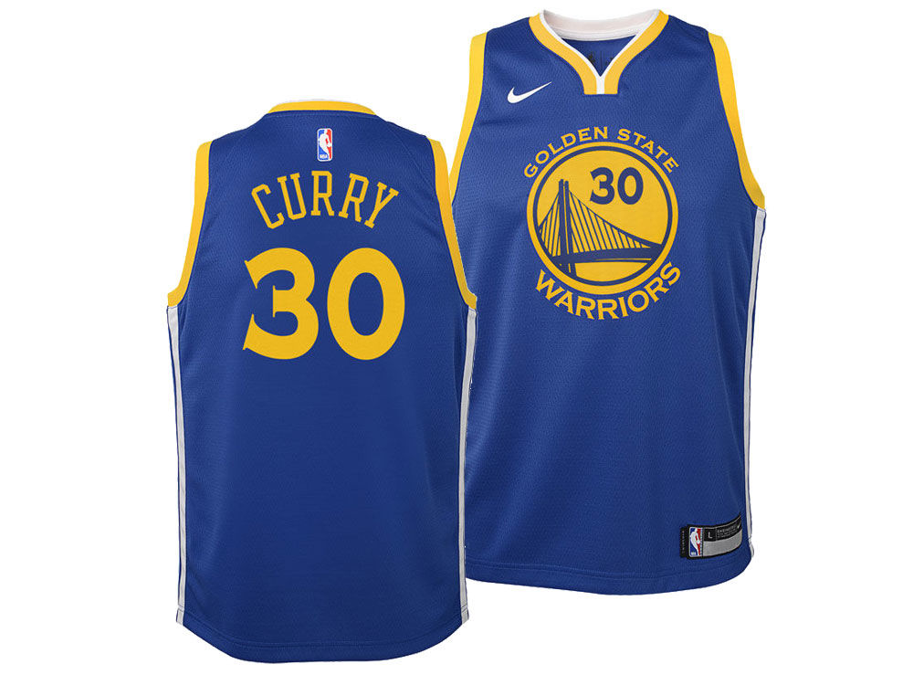 Golden State Warriors Stephen Curry Nike NBA Youth Icon Swingman Jersey  1636bb254