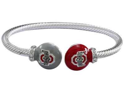 Ohio State Buckeyes Bangle Bead Bracelet