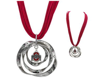 Ohio State Buckeyes Hammered Hoop Necklace