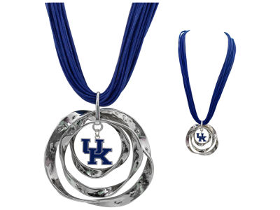 Kentucky Wildcats Hammered Hoop Necklace