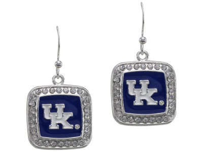 Kentucky Wildcats Square Crystal Logo Earring