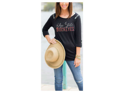 Ohio State Buckeyes Gameday Couture NCAA Women's Zipper Elbow Sleeve Top
