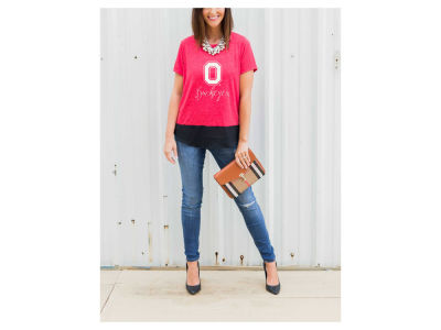 Ohio State Buckeyes Gameday Couture NCAA Women's Chiffon Block T-Shirt
