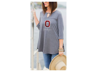 Ohio State Buckeyes Gameday Couture NCAA Women's Keyhole Block Swing Tunic