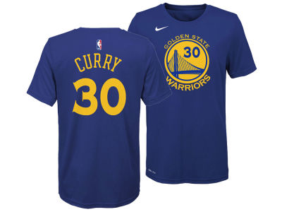 Golden State Warriors Stephen Curry Nike NBA Youth Icon Name and Number T-Shirt