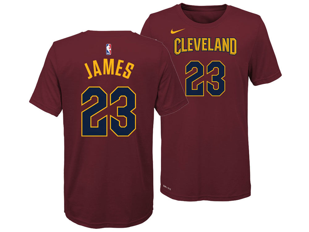 Cleveland Cavaliers Lebron James Nike NBA Youth Icon Name And Number T Shirt