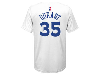 Golden State Warriors Kevin Durant Nike NBA Youth Icon Name and Number T-Shirt