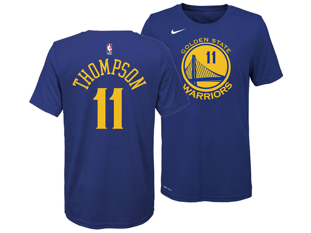 ee8cbe31c Golden State Warriors Klay Thompson Nike NBA Youth Icon Name and Number T- Shirt