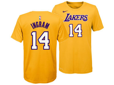 Los Angeles Lakers Brandon Ingram Nike NBA Youth Icon Name and Number T-Shirt