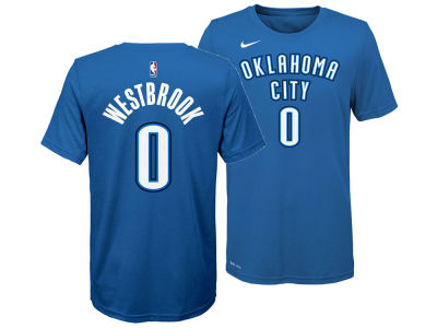 Oklahoma City Thunder Russell Westbrook Nike NBA Youth Icon Name and Number T-Shirt