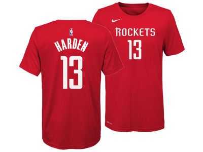 Houston Rockets James Harden Nike NBA Youth Icon Name and Number T-Shirt