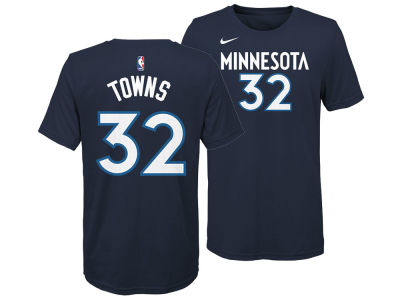 Minnesota Timberwolves Karl-Anthony Towns Nike NBA Youth Icon Name and Number T-Shirt