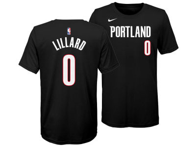 Portland Trail Blazers Damian Lillard Nike NBA Youth Icon Name and Number T-Shirt