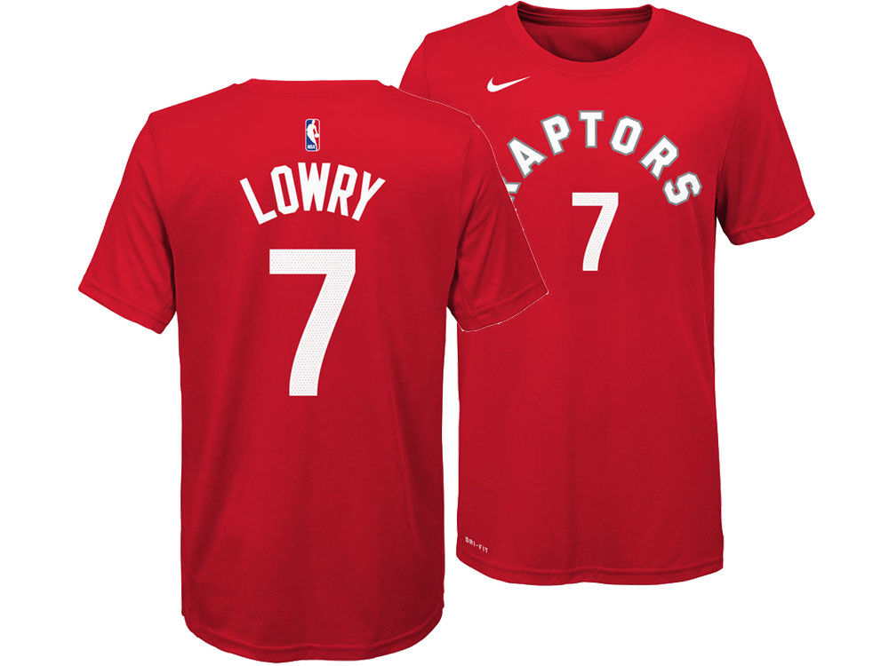 cfd42b8bc Toronto Raptors Kyle Lowry Nike NBA Youth Icon Name and Number T-Shirt