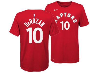 Toronto Raptors Demar Derozan Nike NBA Youth Icon Name and Number T-Shirt