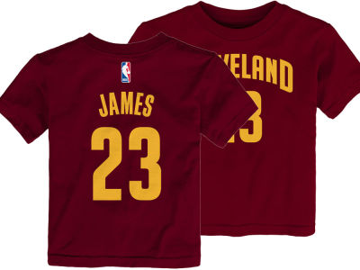 07070ccd9 Cleveland Cavaliers Lebron James Nike NBA Toddler Replica Name and Number T- Shirt