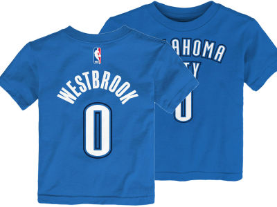 Oklahoma City Thunder Russell Westbrook Nike NBA Toddler Replica Name and Number T-Shirt