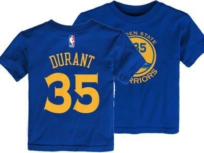 Golden State Warriors Kevin Durant Nike NBA Toddler Replica Name and Number T-Shirt