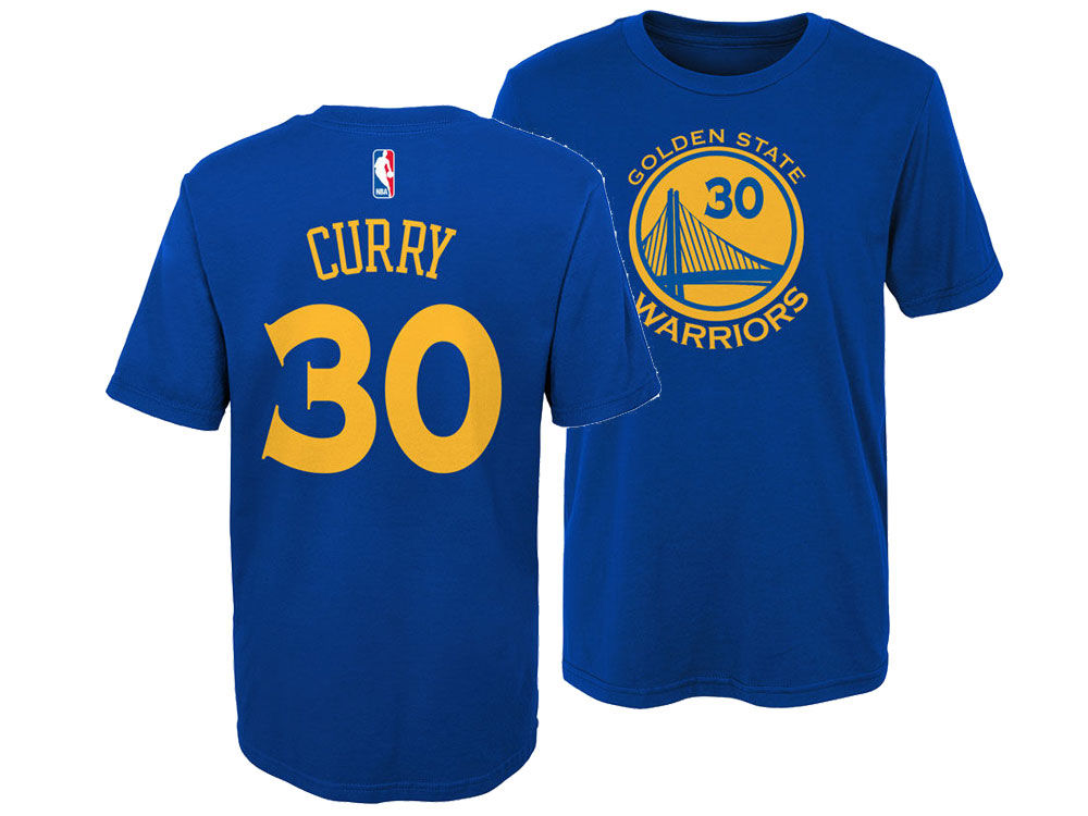 Golden State Warriors Stephen Curry Nike NBA Kids Replica Name and Number T- Shirt  7b854d8a8