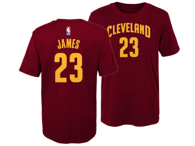 Cleveland Cavaliers Lebron James Nike NBA Kids Replica Name and Number T-Shirt