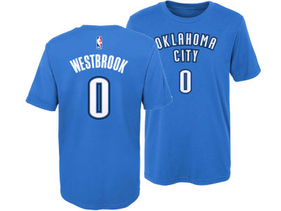 Oklahoma City Thunder Russell Westbrook Nike NBA Kids Replica Name and Number T-Shirt