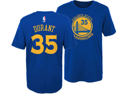 Golden State Warriors Kevin Durant Nike NBA Kids Replica Name and Number T-Shirt